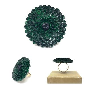 🆕 hand painted enamel flower rings